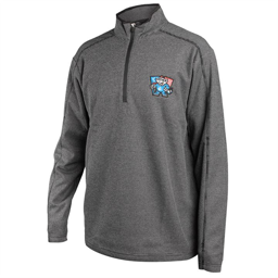 Antigua Men's Black/Grey Flag 1/4 Zip