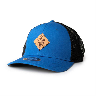 OC Black/Royal Leather RC Mesh Cap