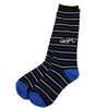 Black, White, Royal Stripe Home Socks