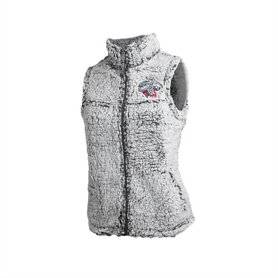 Boxercraft Women's Fuzzy Grey Vest Primary