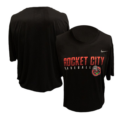 Nike Short Sleeve Black Rocket City Baseball Inaugural Mission Tee