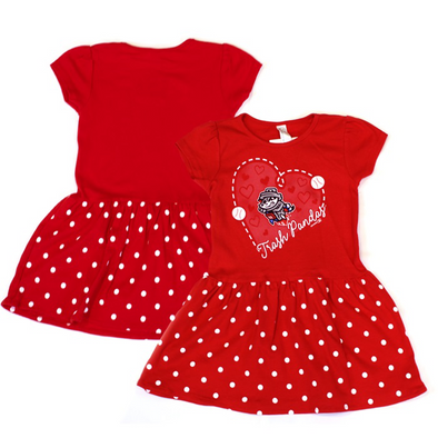 Toddler Red w/ White Dots Primary Dress