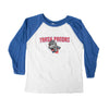 108 Youth Raglan White/Blue 3/4 SL T-shirt