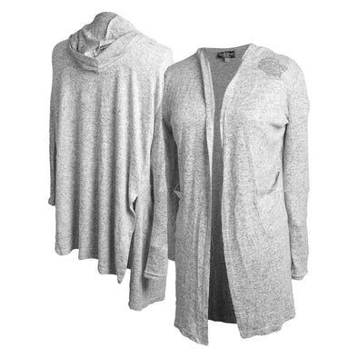 Boxercraft Ladies Grey Primary Cardigan