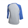 3/4 Sleeve Ladies Blue Raglan