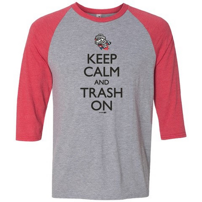 Keep Calm Red/Grey 3/4 S/L Raglan