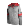 Antigua Ladies Red/Grey Primary Hoodie