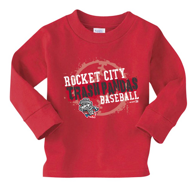 Toddler L/S Red RCTP Baseball Primary T-shirt