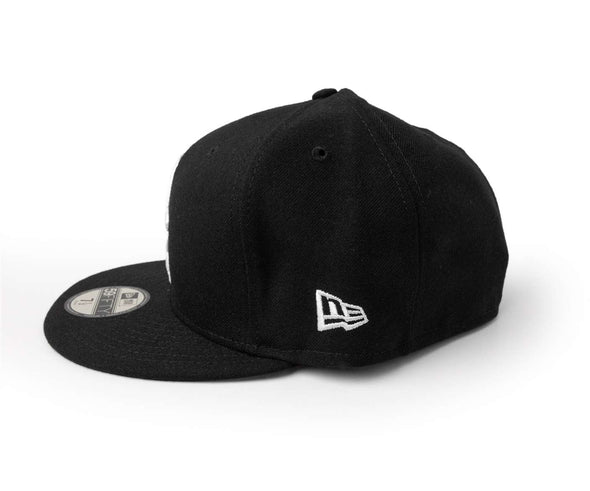 New Era 59-50  Black w/ White RC Fitted Cap