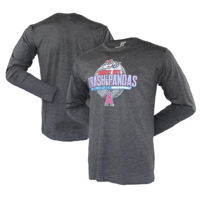 Long Sleeve Adult Black/Heather Grey Triblend Denier T-shirt