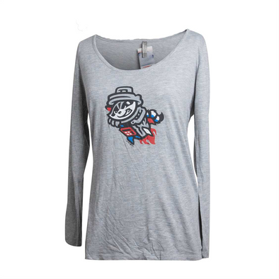 Long sleeved Ladies Grey Primary T-shirt