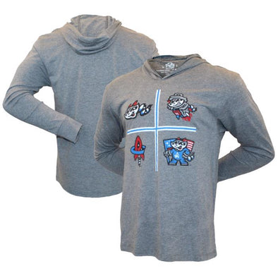 108 Women's L/S Grey Icons a Plenty Hoodie