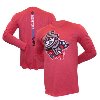 108 Men's L/S Red Primary Razorback T-shirt