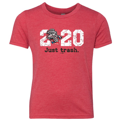 Youth 2020 Just Trash Red Tri-Blend