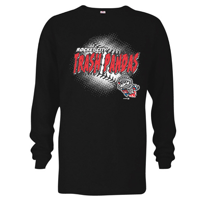 Youth L/S Black RCTP Primary Baseball T-shirt