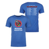 Royal blue Mission Aborted T-shirt by 108 Stitches