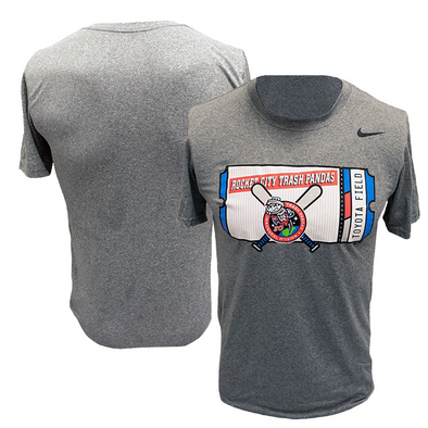 Nike Short Sleeve Grey Inaugural Mission Ticket T-shirt