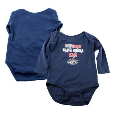 Long Sleeve Royal Infant Bodysuit 100% TP Fan
