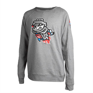 Crewneck Grey Primary RC Sleeve Sweatshirt