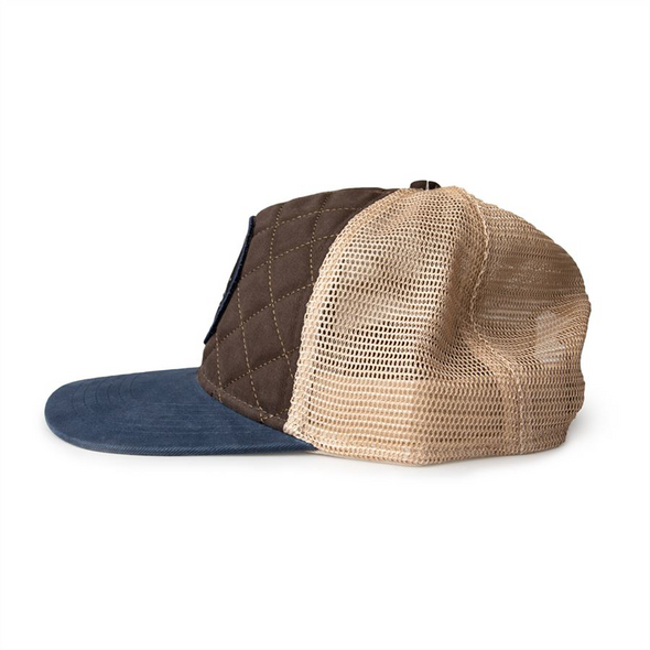 QUILTED BROWN/NAVY PRIMARY CAP