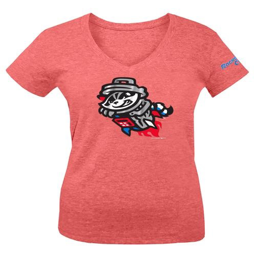 YOUTH RED PRIMARY V-NECK W/RC SLEEVE