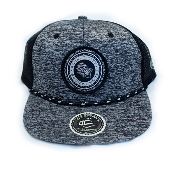 GREY-BLACK MESH SNAPBACK BY OC WITH PRIMARY LOGO