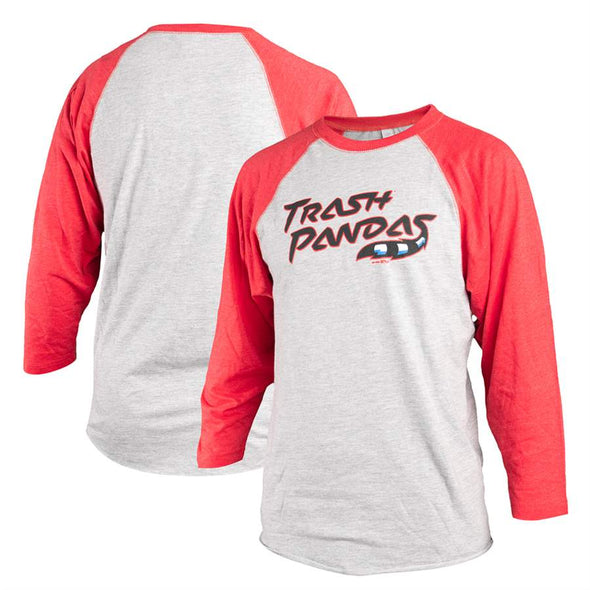 3/4 Long Sleeve Adult Home Raglan Red