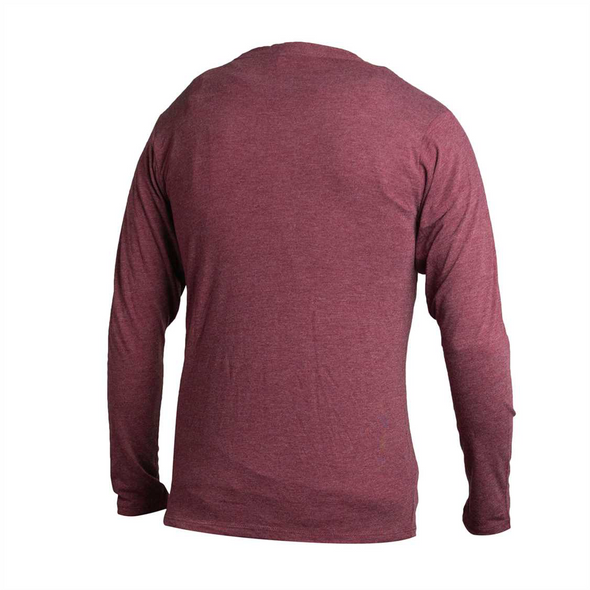 L/S Maroon Crackle Triblend Tee Shirt