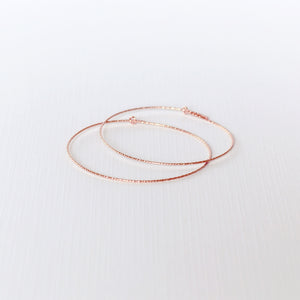 Marimar Hoop Earrings - Rose Gold Filled