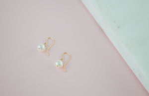 Nida Pearl Drop Earrings - 14k Gold Fill