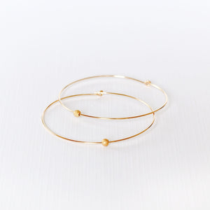 Joyce Hoop Earrings - Gold Filled
