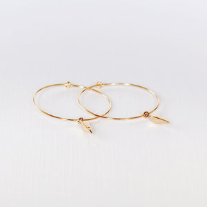 Leo Hoop Earrings - Gold