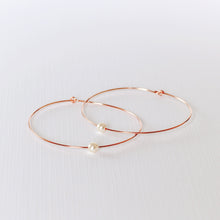 Load image into Gallery viewer, Beverly Hoop Earrings - Rose Gold Filled