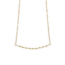 Load image into Gallery viewer, Freshwater Pearl Horizontal Bar Necklace