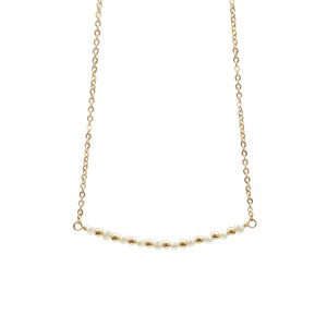 Freshwater Pearl Horizontal Bar Necklace