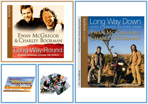 Long Way Round/Down - Audiobook & Postcard Deal