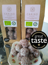 "Award Winning Organic Raspberry ""Cariads"" - energy balls with organic Welsh Ewe's Milk"