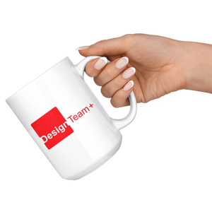 Design Team Plus 15oz White Mug