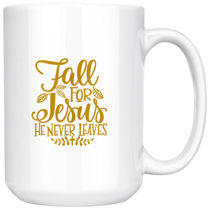 Fall for Jesus - 15oz Mug