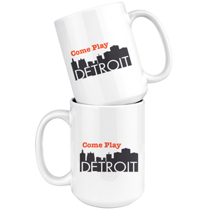15oz Mug - Come Play Detroit