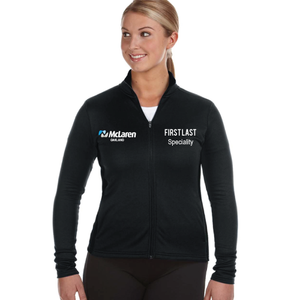 McLaren Champion Adult + Ladies Performance Fleece Full-Zip Jacket (logo + name and/or dept)