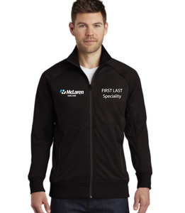 McLaren Adult + Ladies The North Face ® Tech Full-Zip Fleece Jacket (Logo + Name and/or Department)