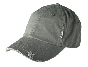 District Distressed Cap with Embroidery