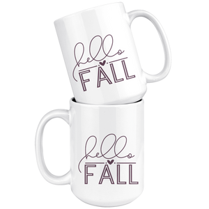 Hello Fall - 15oz Mug