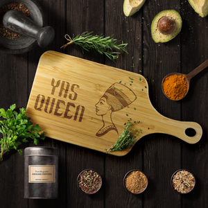 Yas Queen Cutting Board with Handle