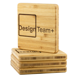 Design Team Plus Bamboo Coasters - Set of 4