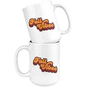 Retro Fall Vibes - 15 oz Mug