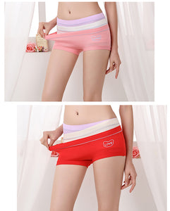 Set of 3 Pcs Modal Fiber Simple Comfortable Briefs Panties - Sportantz