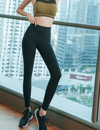 High Waist Elastic Long Sport Pants SP9750 - Sportantz