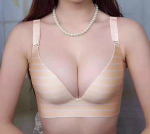 B Cup Elegant Deep V push up bra. Non-wired Comfortable - Sportantz